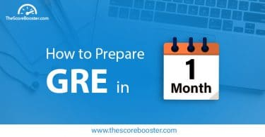How to prepare for GRE in one month