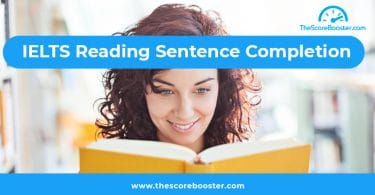 IELTS reading sentence completion