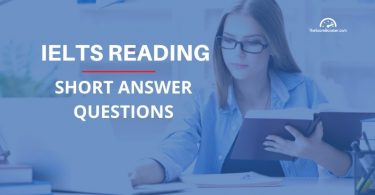 IELTS reading short answer questions