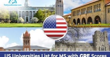 List of US Universities Accepting GRE Scores for MS